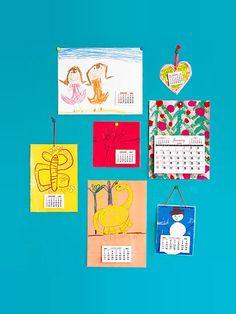 Turn your kids' artwork into a custom calendar for a thrifty DIY Christmas present.