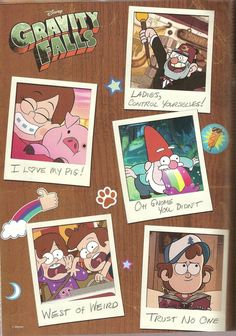 Gravity Falls poster by on DeviantArt-Gravity Falls poster by on DeviantArt A Gravity Falls poster I got out of Disney's Comic Zone: . It mostly have clips from the first episode and some of Mabel's stickers, but it is still cool. Gravity Falls Dipper, Gravity Falls Poster, Gravity Falls Journal, Gravity Falls Art, Gravity Falls Secrets, Dipper E Mabel, Mabel Pines, Cartoon Shows, Cute Cartoon