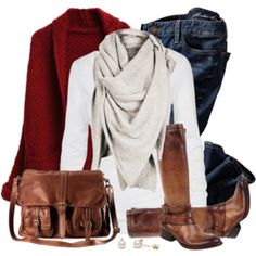 Cardigan and Scarf