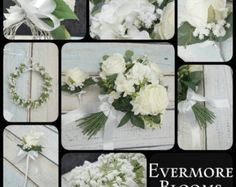 Beautiful, high quality faux flower wedding flower collection. Complete package to include the following : ⭐ W I N T E R S P E C I A L O F F E R ⭐  Complete Faux Flower Wedding Package.  Stunning Hydrangea Bouquet in Burgundy / Marsala. To include :  1 x Handtied Bridal Bouquet  2 x Bridesmaid Bouquets (Smaller Matching Versions of Bridal Bouquet)  1 x Flowergirl Wand  1 x Flowergirl Halo  1 x Grooms Boutennaire (Hydrangea)  2 x Groomsmen Boutennaire (Hydrangea)  2 x Mothers Corsage (Ros...