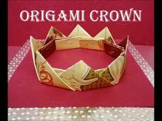 折り紙の王冠 How to make an Origami King Crown Tutorial 종이 접기 왕관 折纸皇冠 - YouTube