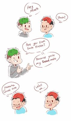 I'm so sorry XD I found the second pun somewhere and I just had to use it rip mark he died of embarrassment Mark And Ethan, Jack And Mark, Markiplier Memes, Pewdiepie, Septiplier Fanart, Epic Art, Art Memes, Best Youtubers, Puns