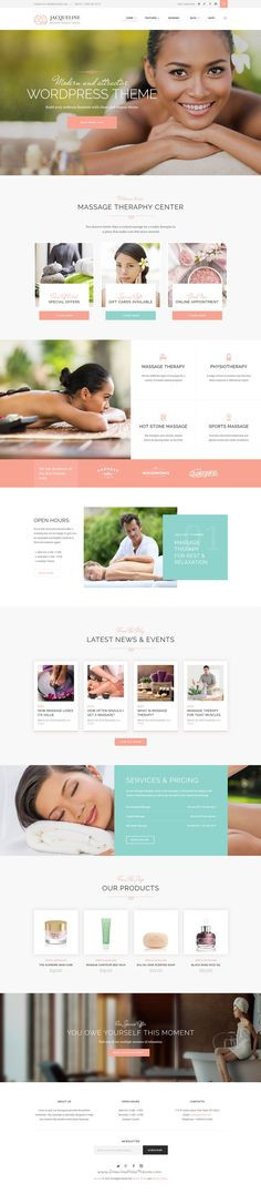 Jacqueline is premium #WordPress theme for #spa, beauty salon or #wellness center website. Download Now!