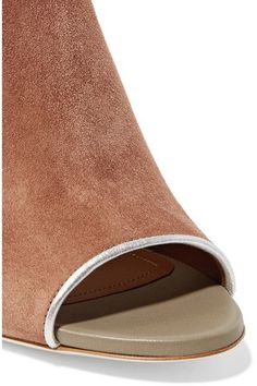 Malone Souliers - Grace Metallic-trimmed Suede And Leather Pumps - Gray - IT