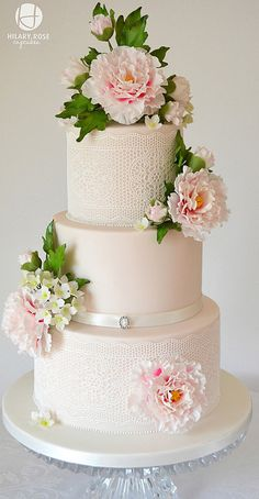Wedding Cakes - Here is today's top featured wedding cake inspiration for you to get inspired for your big day. Floral Wedding Cakes, Wedding Cakes With Cupcakes, Elegant Wedding Cakes, Elegant Cakes, Wedding Cake Designs, Floral Cake, Purple Wedding, Lace Wedding Cakes, Gold Wedding