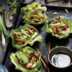 Chicken lettuce wraps are an adventurous way to introduce new flavors and cuisines to your table of eaters. They're a lot like tacos—handheld and highly customizable—and often very fast to prepare. For this Korean-inspired version, we let chicken marinate in big-flavor ingredients—gochujang, sesame oil, soy sauce, and brown sugar. Think of gochujang as Korean steak sauce, adding savory depth to the chicken. You can find it at many supermarkets, or substitute equal parts Sriracha and white...