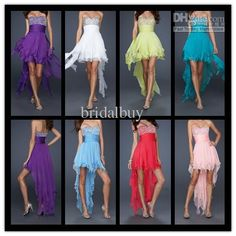 Wholesale 2012 Cheap Sexy Homecoming Dress Sweetheart High-Low Beads Sequin Chiffon Short Prom Dresses, Free shipping, $116.27-131.68/Piece | DHgate#s11-8-null