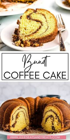 Craving a coffee cake? Make this light, buttery Bundt Coffee Cake with sour cream. It has delicious cinnamon swirls and layers of walnuts inside. It makes the perfect addition to any breakfast or… Homemade Cake Recipes, Best Dessert Recipes, Cupcake Recipes, Brunch Recipes, Fun Desserts, Brunch Menu, Cupcake Cakes, Homemade Food, Bundt Cakes