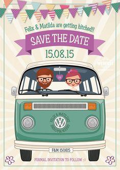 VW Campervan Wedding Save the date…