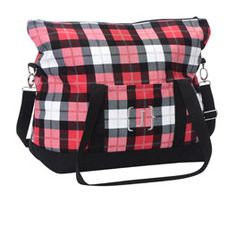Fold-Over Weekender - Check Mate winter travel bag, fun pattern!