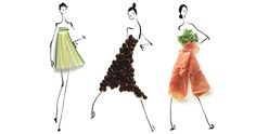 Q&A: Culinary Couture Courtesy of Gretchen Röehrs Create Collage, Collage Art, Fashion Collage, Fashion Art, Food Garnishes, Create Words, Fashion Sketches, Food Styling, Food Art