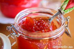 Chilimarmelade | Det søte liv Healthy Eating Tips, Healthy Nutrition, Chili, Cas, Vegetable Drinks, Nigella, Food Menu, Fruits And Vegetables, Punch Bowls