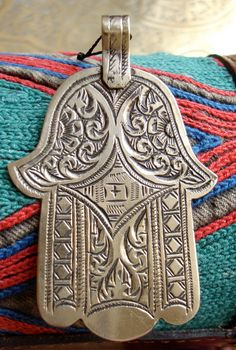 Moroccan Jewish Berber Hand of Fatima charm by HilarysBazaar