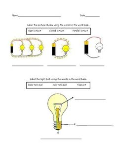 Electricity Quiz by Sissy's School House Scientific Method Experiments, Science Experiments, Science Ideas, Science Lessons, Basic Electrical Circuit, Teacher Resources, Teacher Pay Teachers, Insulators And Conductors, Science Electricity