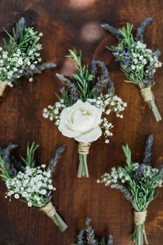 rustic wedding boutonniere with baby's breath  Button hole ideas for a rustic vintage outdoor groom at his creative wedding wedding #buttonhole #groomsmen #groom #accessory