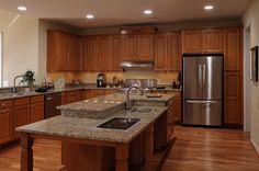 Universal design kitchen island