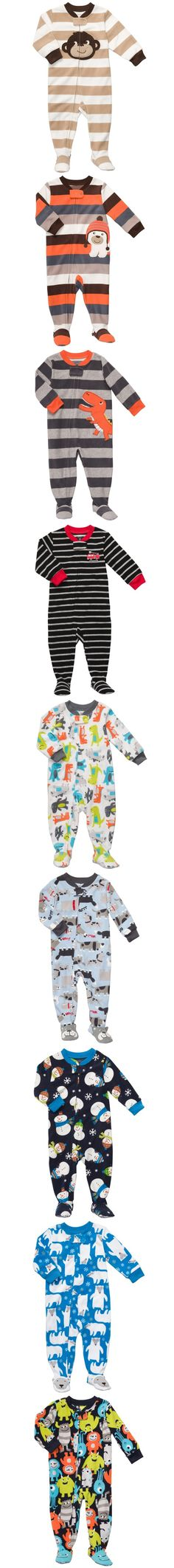 Groovy microfleece PJ's from Carter's - I need a pair.