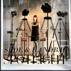 "SAKS FIFTH AVENUE, Chicago, Illinois, ""Spotlight on fashion.... Elements of high style"", photo by Kristin, pinned by Ton van der Veer"