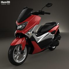 Yamaha NMAX 160 ABS 2017 3d model from Hum3d.com.