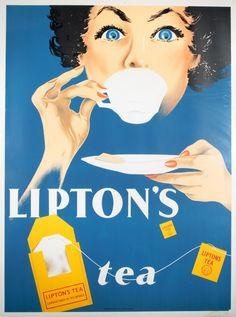 Lipton Tea by Van Dehn (1950)