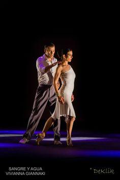 "Dancers: Fabian Ballejos & Gina Nikolitsa From the performance ""Sangre y Agua Tango/Vivianna Giannaki"", Pallas theater. Photo: De Klik www.fabianygina.com"