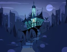 Looks like Foster's Home for Imaginary Friends style :) Cartoon Background, Animation Background, Art And Illustration, Foster Home For Imaginary Friends, Bg Design, Character Design Animation, Environmental Design, Visual Development, Decoration