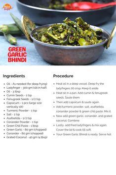 Green Garlic Bhindi | Tasted Recipes