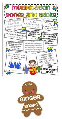 Simply Centers: Multiplication Songs and Tricks Freebies!  Great for starting the year off right!