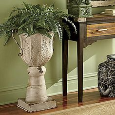 Demetrius Distressed Planter from Seventh Avenue ®