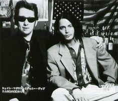 London, September 27-28, 1994 Johnny with Shane MacGowan