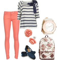 so cute! i love navy and coral together!