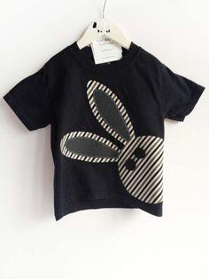 Bunny Rabbit T Shirt for Boy Boy Easter Shirt by kakabaka on Etsy
