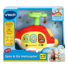 VTech Giggle /& Go Snail Take Along Toy For Baby│Spins /& Lightsup│Melodies│Birth+