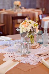 Vintage chic reception ideas