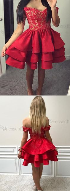 Homecoming dresses, red sweetheart party dresses, cheap fashion gowns.