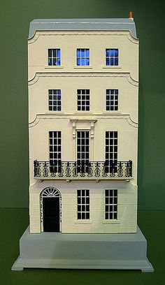 1/48th scale model Regency house