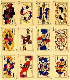 Le Jeu de Marseille - André Breton and a group of his Surrealist friends (Wifredo Lam, Max Ernst, Jacqueline Lamba, Oscar Dominguez, Victor Brauner, Jacques Hérold, André Masson and Frédéric Delanglade) -1940
