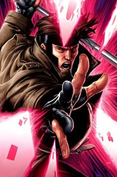 Gambit #Xmen I remember watching the cartoon as a kid and having a massive crush on the lovely and talented Gambit!