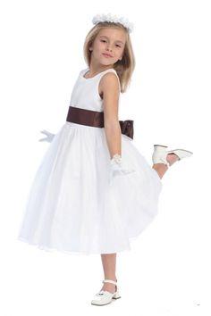 82d0b95fb0a Satin+Bodice+Organza+Skirt+Flower+Girl+Dress+with+