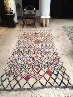 Vintage Moroccan rug Azilal by BazaarLiving on Etsy