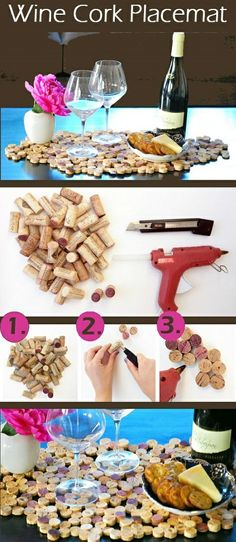 HOMEMADE WINE CORK PLACEMAT.... because why not