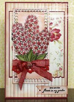 Heartfelt Creations   Pink Hyacinth Card