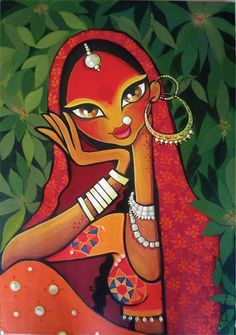 40 Beautiful And Interesting Indian Paintings 40 Beautiful And Interesting Indian Paintings - Bored Art Art And Illustration, Art Illustrations, Rajasthani Painting, Rajasthani Art, Madhubani Art, Madhubani Painting, Ganesha Painting, Arte Tribal, Tribal Art