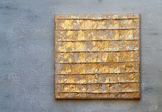 Blattgold Malerei Abstrakte Malerei 30x30x15 cm