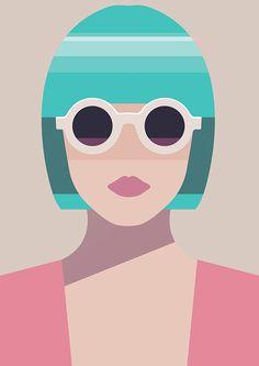 Pastel woman on Behance