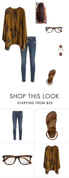 """""""Happy birthday Mom!"""" by modest-flute ❤ liked on Polyvore featuring rag & bone, Birkenstock, Ray-Ban and Chicwish"""