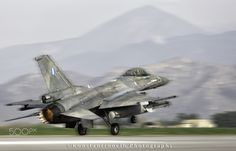 """Ghost"" take off... - Hellenic Air Force F-16C Block 52+ from the 337 Sqn ""Ghost"" taking off from Larissa AFB, Greece."