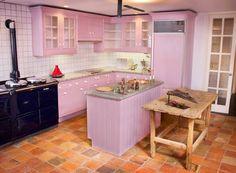 the modern home decor: modern pink Kitchen cabinets design, ideas ...