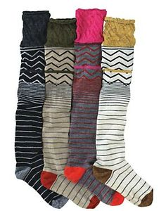 Wool knee high socks...perfect for under boots!