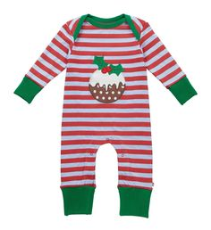 Playsuit - Christmas Pudding - available in sizes Newborn up to 18-24 months - RRP £22.00